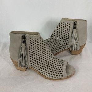 Matisse 9.5 Gray Booties Perforated Leather